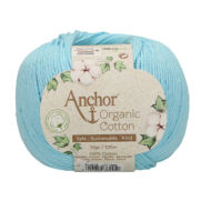 Anchor Organic Cotton 129 türkizkék víz