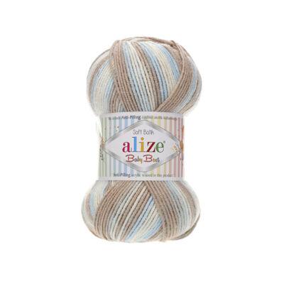 Alize Baby Best Batik - 6657 (fehér-barna-kék színátmenetes)