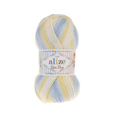 Alize Baby Best Batik - 6925 (sárga-kék-krém színátmenetes) kifutó