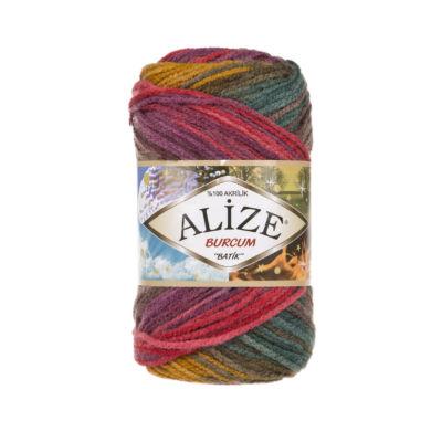 Alize Burcum Batik - 3368 (mustár-zöld-lila színátmenetes)