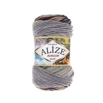 Alize Burcum Batik - 6924 (sötétkék-barna-zöld-szürke színátmenetes)