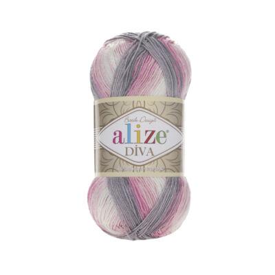 Díva Batik 3245 fehér-rózsaszín-barna színátmenetes